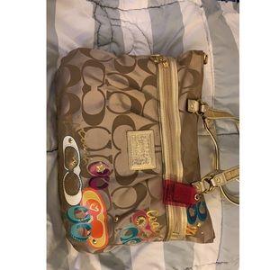 Coach poppy shoulder purse
